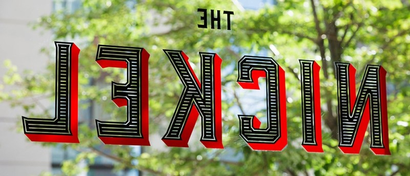 Hotel Teatro Nickel sign